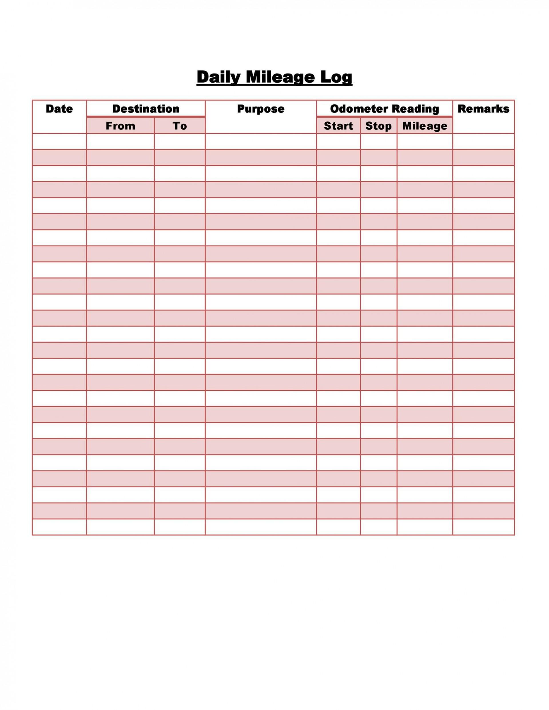 007 Stupendou Mileage Log Printable Template Design  Book Excel1920