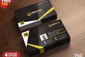 007 Stupendou Psd Busines Card Template Highest Quality  Computer Free With Bleed