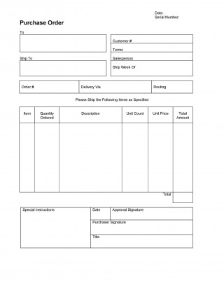 007 Stupendou Purchase Order Excel Template High Definition  Vba Download Free320