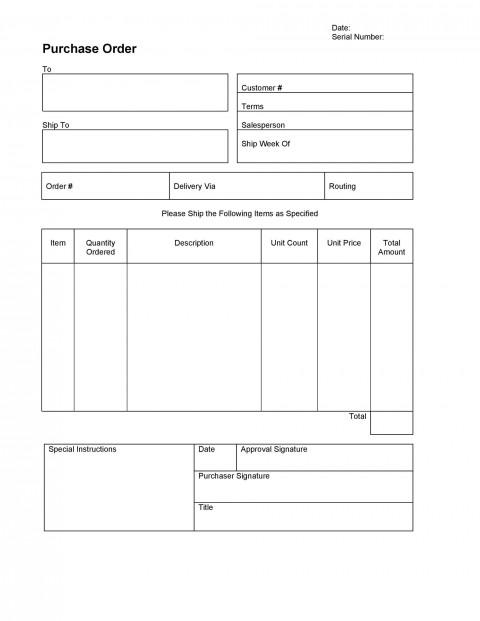007 Stupendou Purchase Order Excel Template High Definition  Vba Download Free480