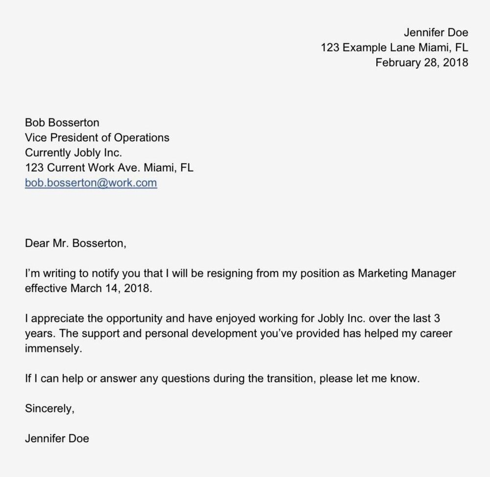 007 Stupendou Sample Resignation Letter Template Email Highest Quality Full