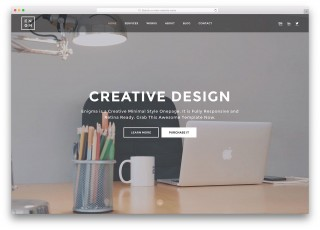 007 Stupendou Simple One Page Website Template Free Download Concept  Html With Cs320