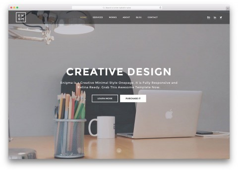 007 Stupendou Simple One Page Website Template Free Download Concept  Html With Cs480
