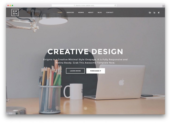 007 Stupendou Simple One Page Website Template Free Download Concept  Html With Cs728
