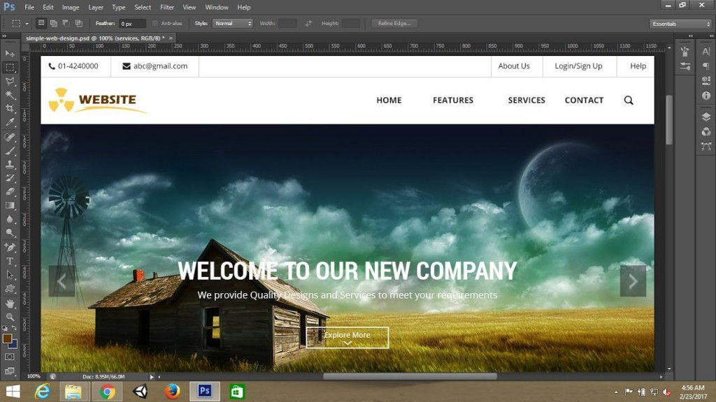 007 Stupendou Simple Web Page Template Inspiration  Free Download Html CodeLarge