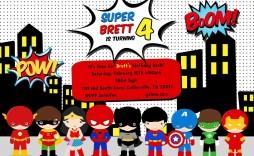 007 Stupendou Superhero Birthday Party Invitation Template Free Photo  Invite