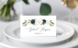 007 Stupendou Wedding Name Card Template Sample  Table Free Place Escort