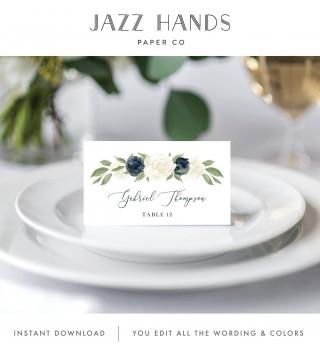 007 Stupendou Wedding Name Card Template Sample  Free Download Design Sticker Format320