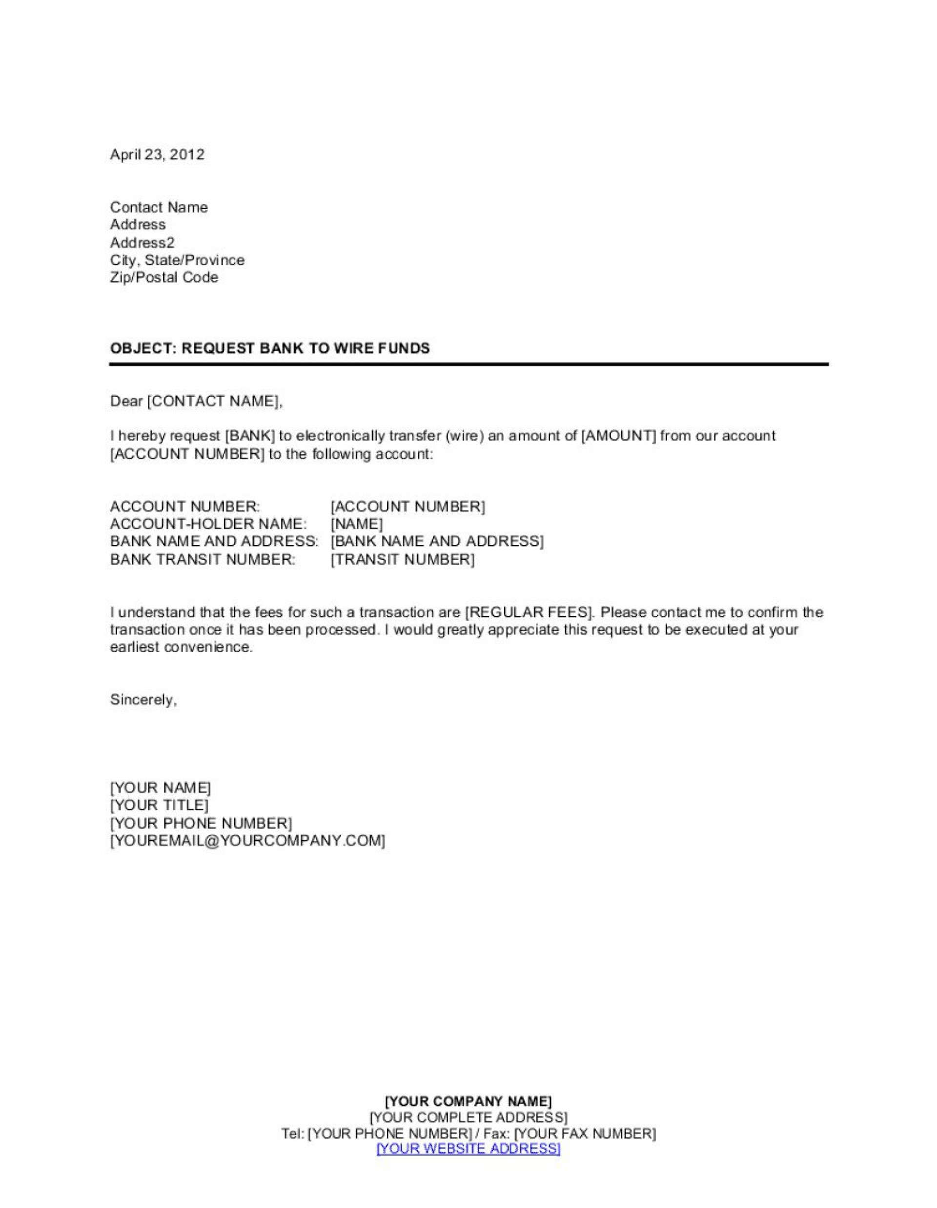 007 Stupendou Wire Transfer Instruction Template High Def  Request Form Chase International1920