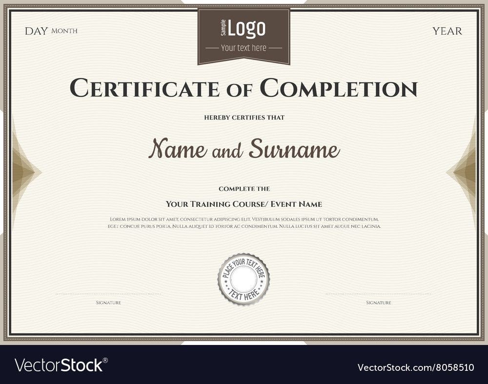 007 Surprising Certificate Of Completion Template Free Picture  Training Download WordFull