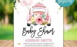 007 Surprising Diy Baby Shower Invitation Template Inspiration  Templates Diaper Free