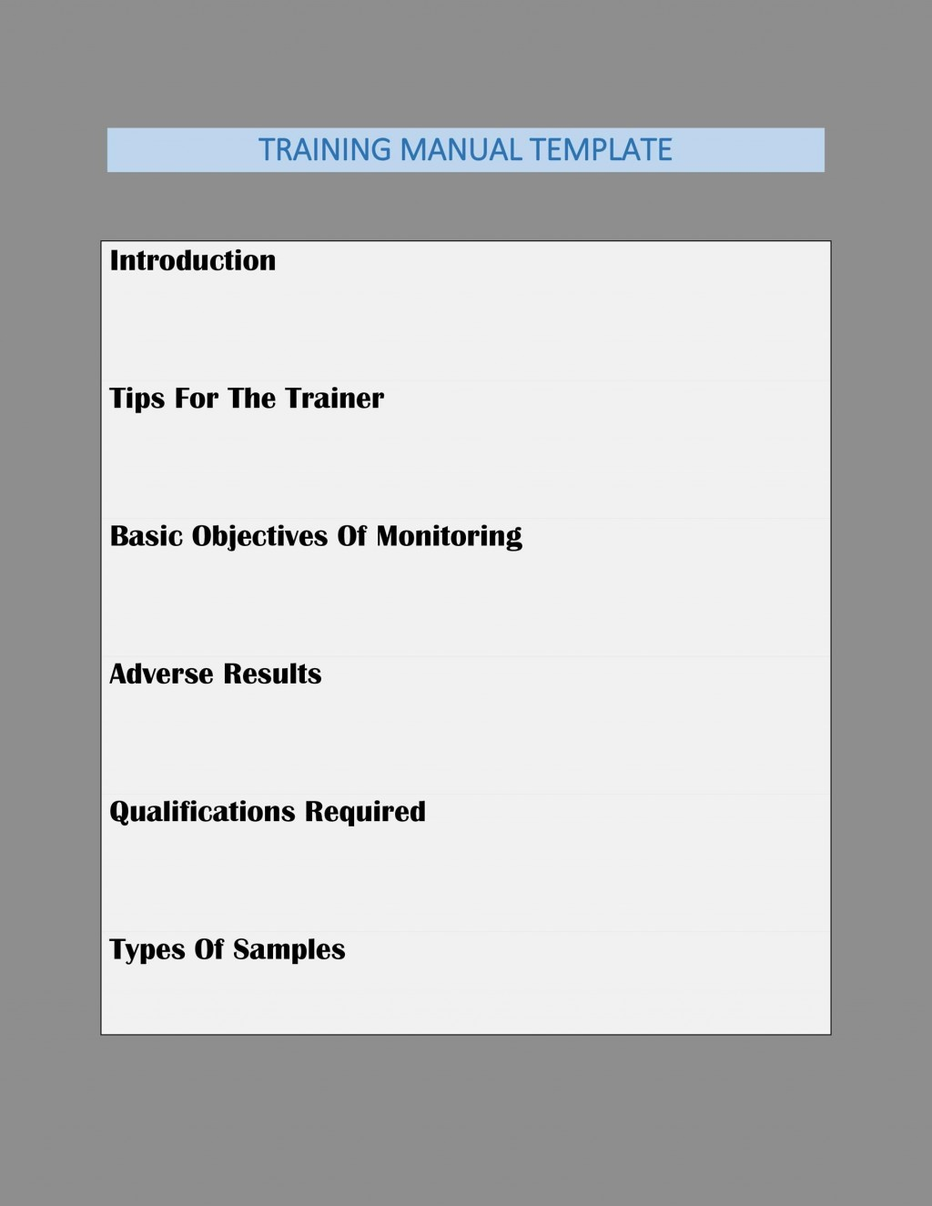 007 Surprising Employee Training Manual Template High Def  New Hire ExampleLarge
