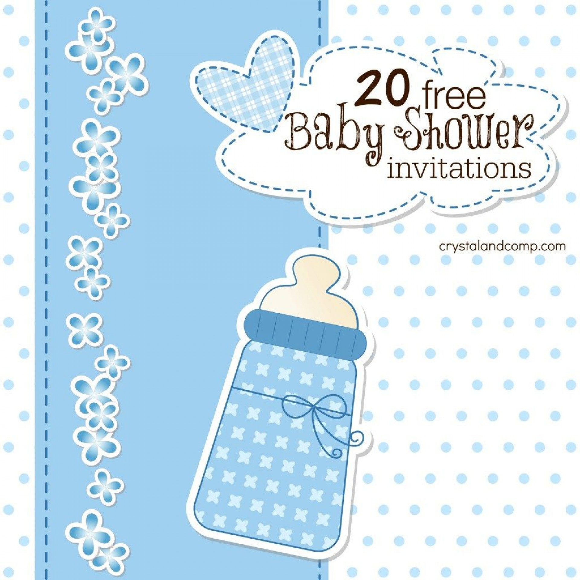 007 Surprising Free Baby Shower Invitation Boy Example  For Twin And Girl Printable1920