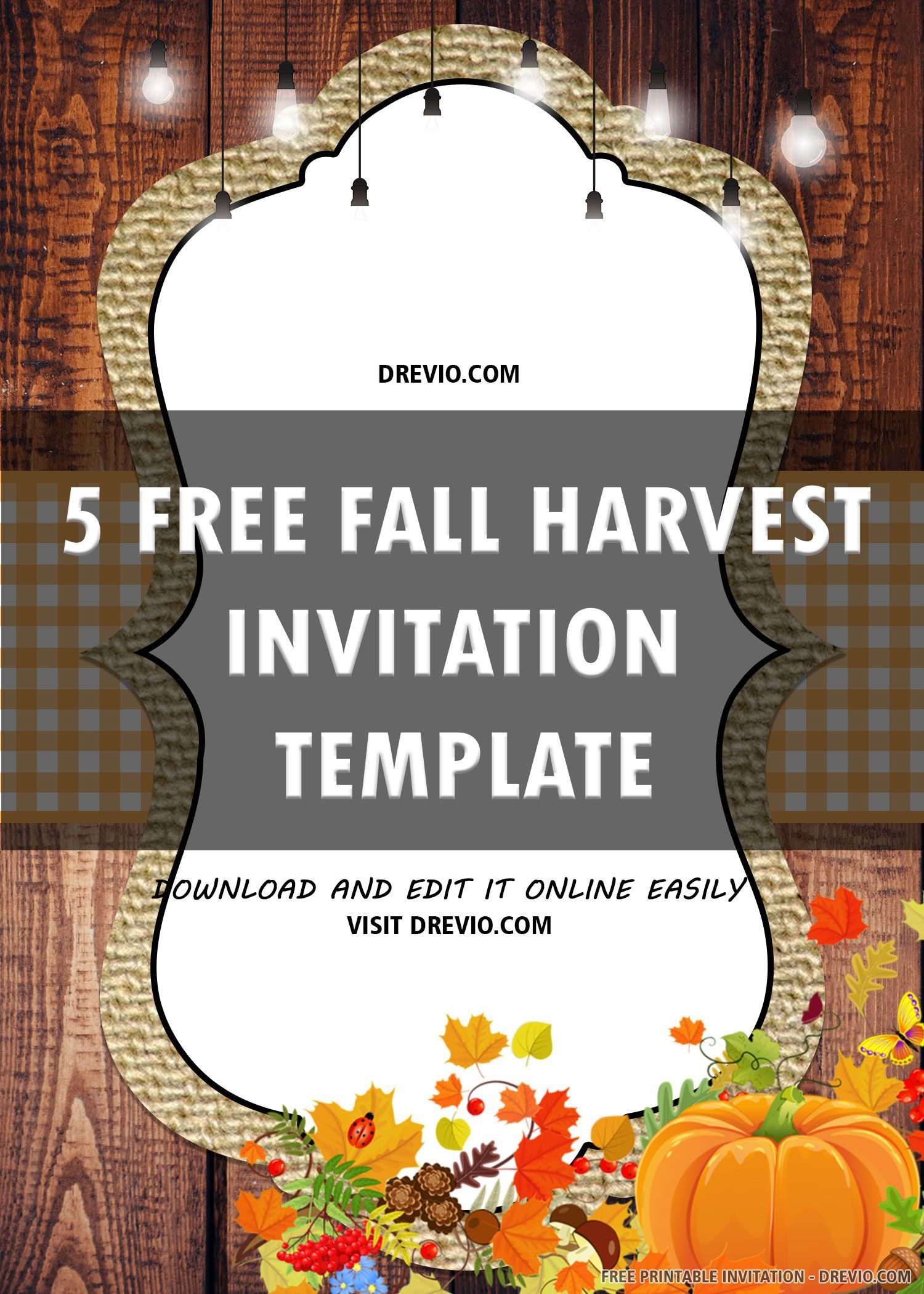 007 Surprising Free Fall Invitation Template Printable High Definition  Wedding For Microsoft Word HalloweenFull