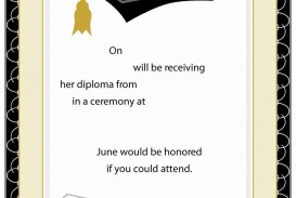 007 Surprising Free Graduation Announcement Template Example  Invitation Microsoft Word Printable Kindergarten