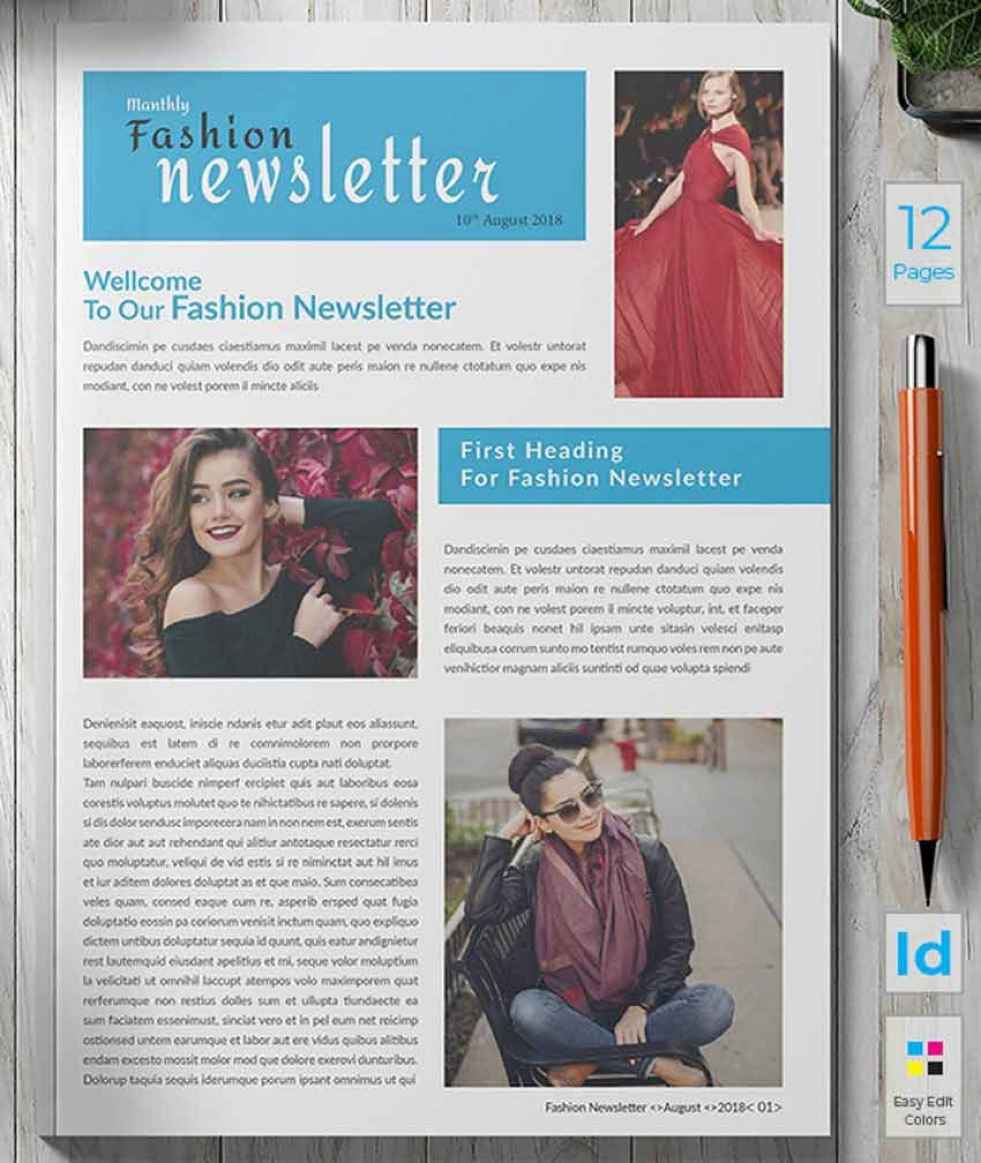 007 Surprising Indesign Newsletter Template Free Example  Cs6 Email Adobe Download1920