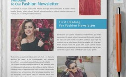 007 Surprising Indesign Newsletter Template Free Example  Cs6 Email Adobe Download