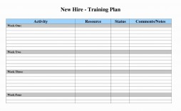 007 Surprising New Employee Training Plan Template Sample  Excel Example Hire Program