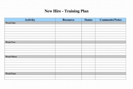 007 Surprising New Employee Training Plan Template Sample  Hire Schedule Excel