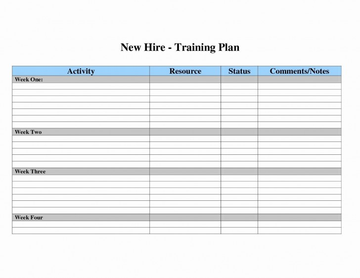 007 Surprising New Employee Training Plan Template Sample  Hire Schedule Excel728