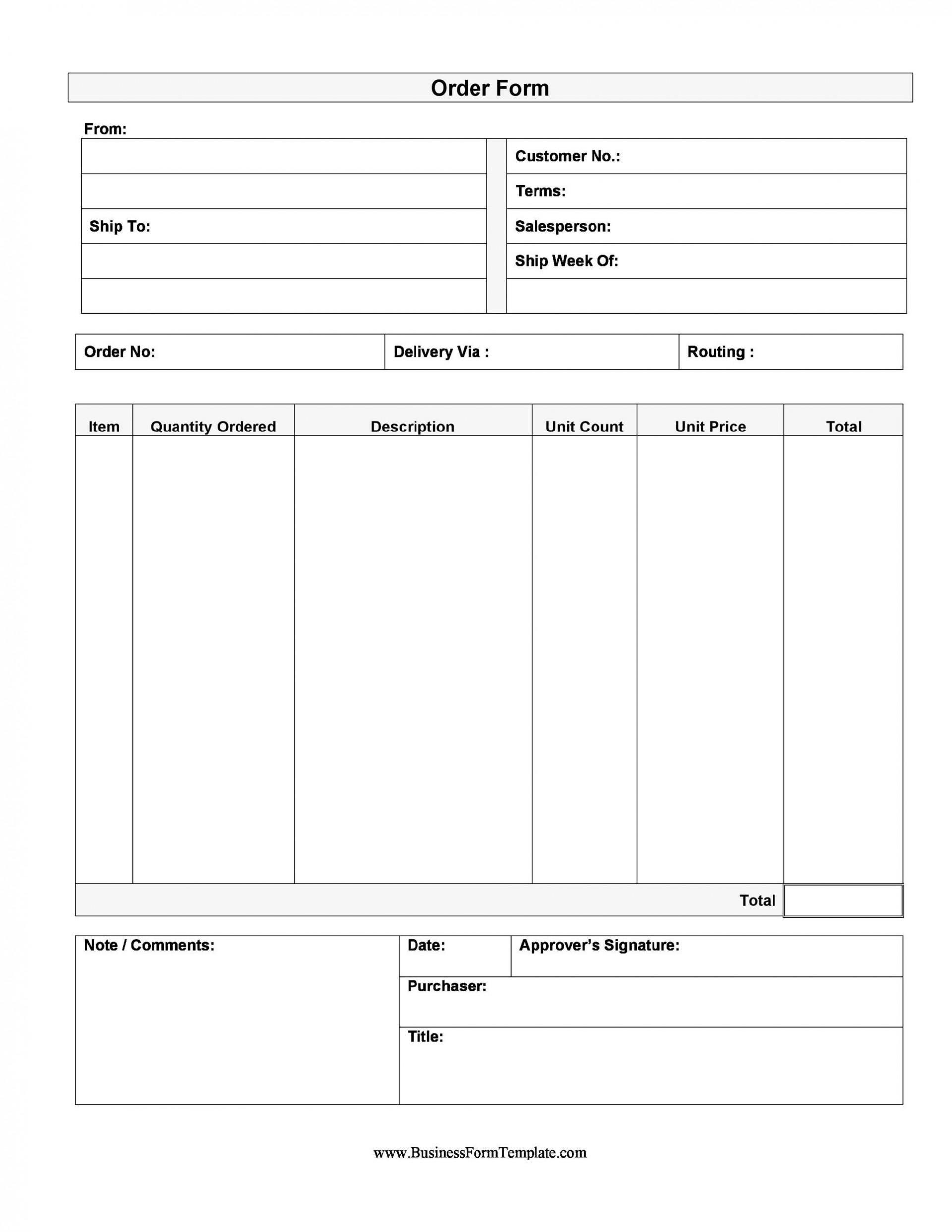 007 Surprising Order Form Template Free High Def  Application Shirt Word Custom1920