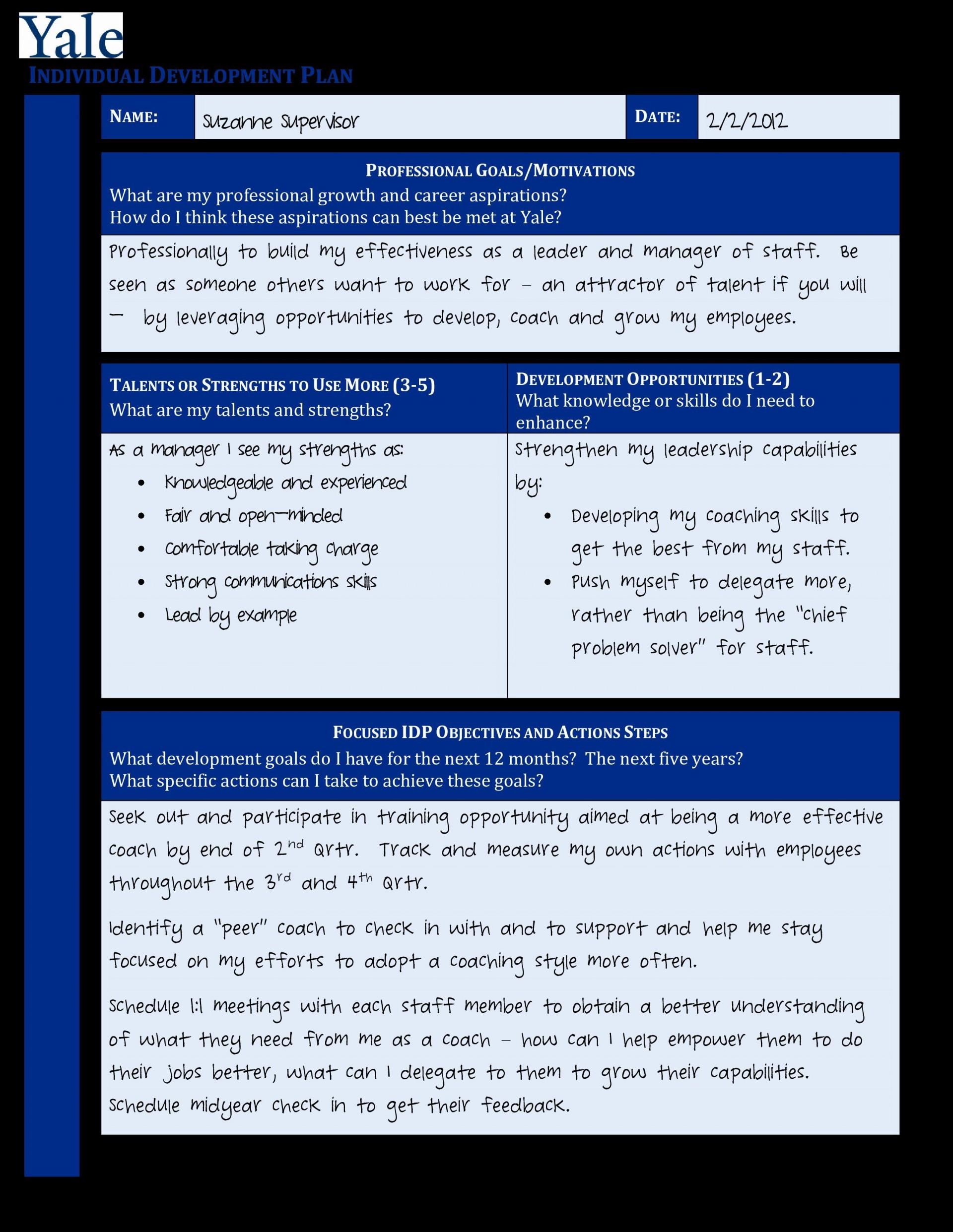 007 Surprising Professional Development Plan Template Pdf Picture  Sample Example1920