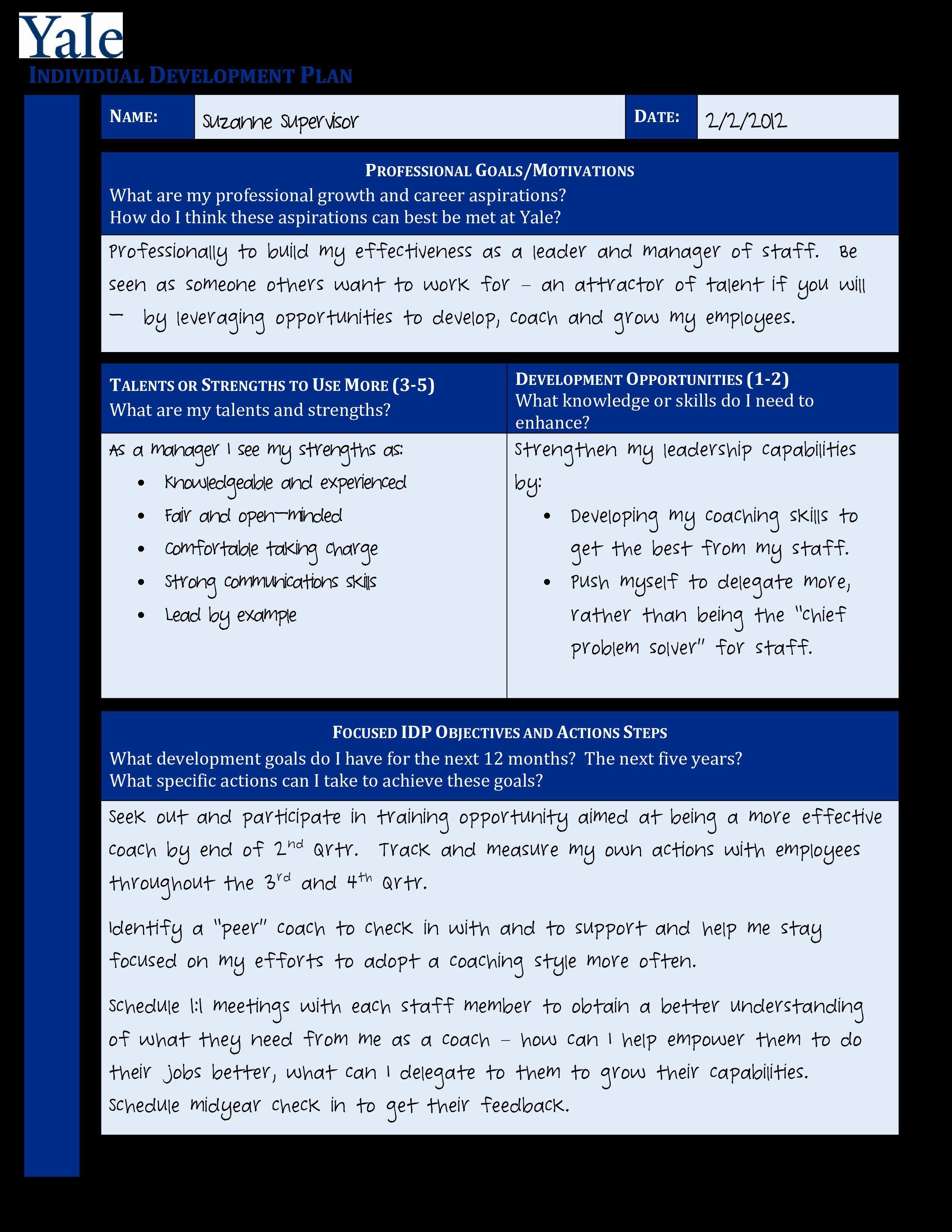 007 Surprising Professional Development Plan Template Pdf Picture  Sample ExampleFull