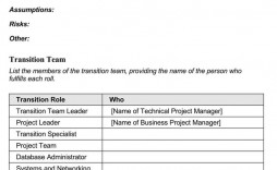 007 Surprising Project Transition Out Plan Template Picture  Xl Excel Download