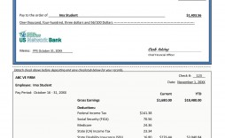 007 Surprising Quickbook Pay Stub Template Image  Fillable Excel