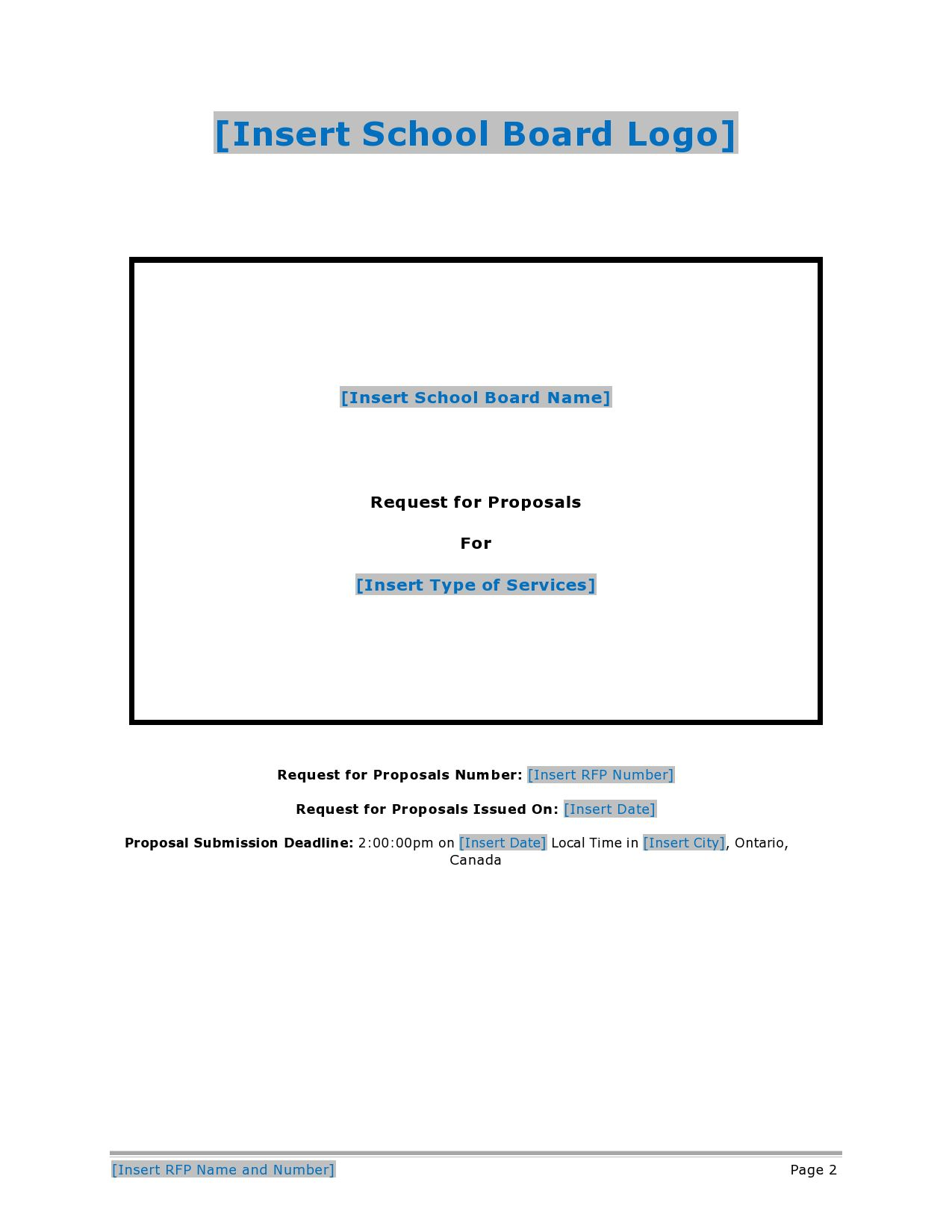 007 Surprising Request For Proposal Template Canada High Resolution Full