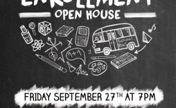 007 Surprising School Open House Flyer Template High Definition  Free Microsoft