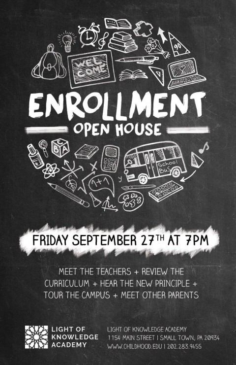 007 Surprising School Open House Flyer Template High Definition  Elementary Free Word480