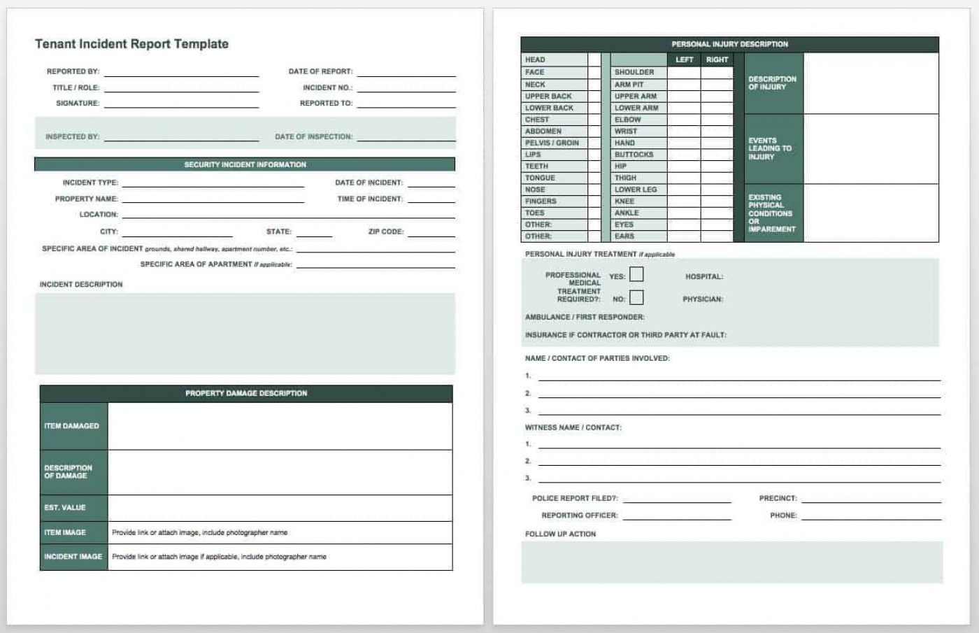 007 Surprising Workplace Injury Report Form Template Ontario Example 1400