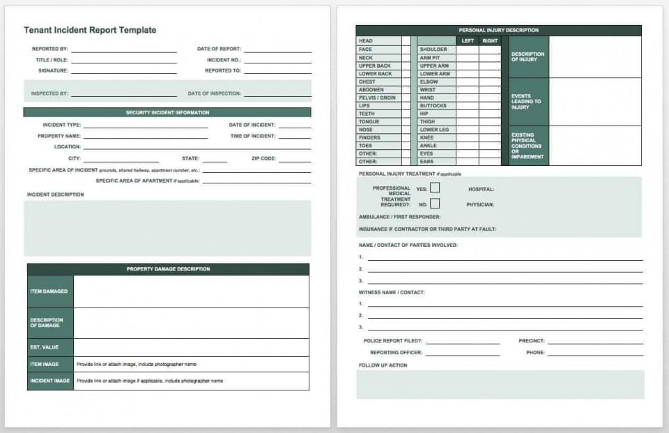 007 Surprising Workplace Injury Report Form Template Ontario Example 960