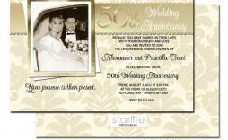 007 Top 50th Anniversary Invitation Design Image  Designs Wedding Template Microsoft Word Surprise Party Wording Card Idea