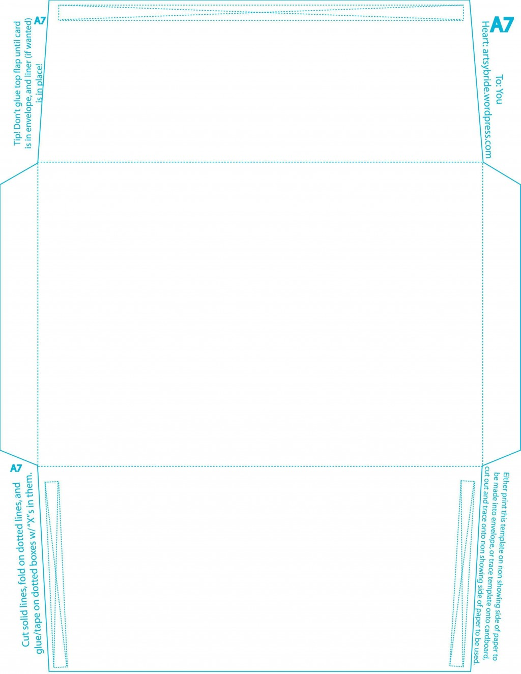 007 Top A7 Envelope Liner Template Free High Resolution Large