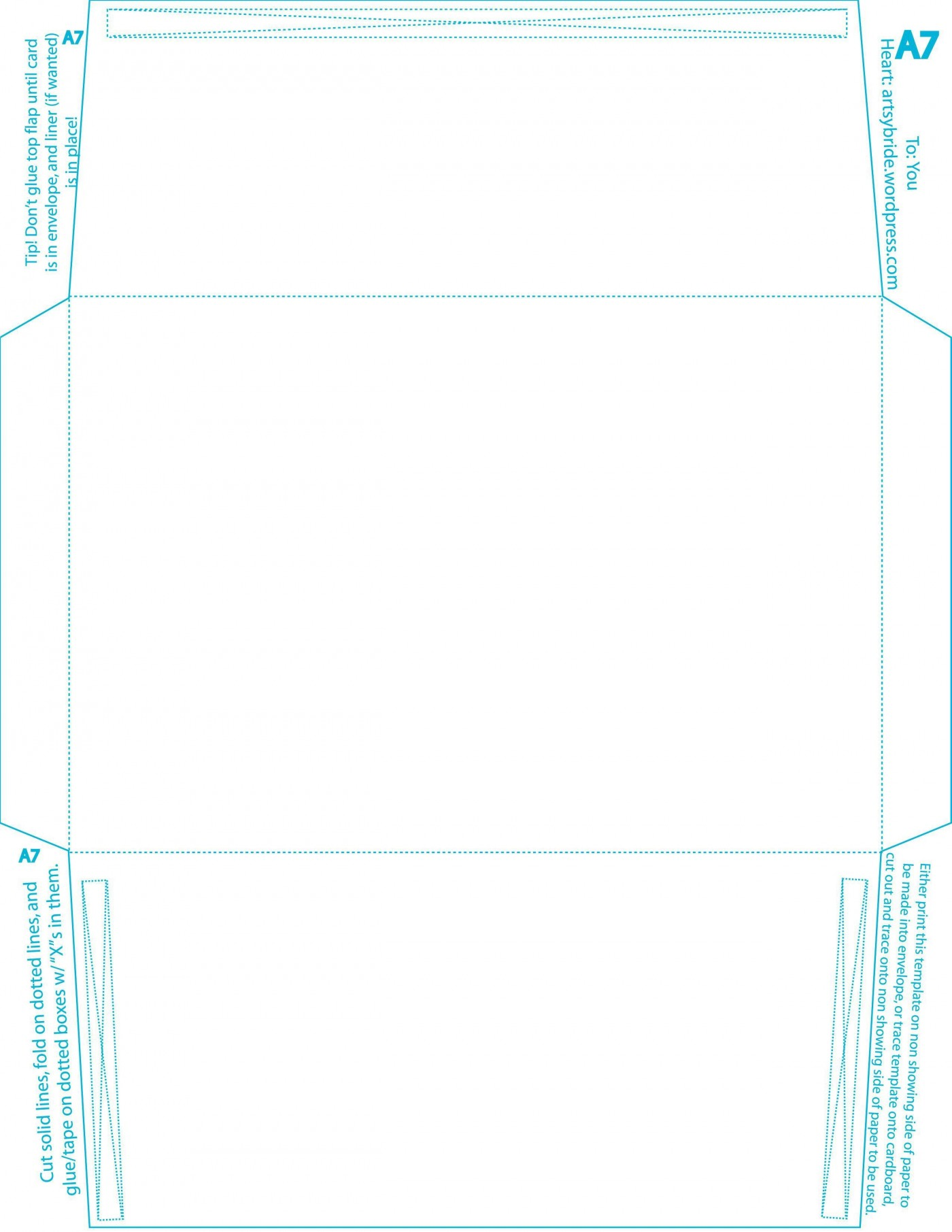 007 Top A7 Envelope Liner Template Free High Resolution 1400