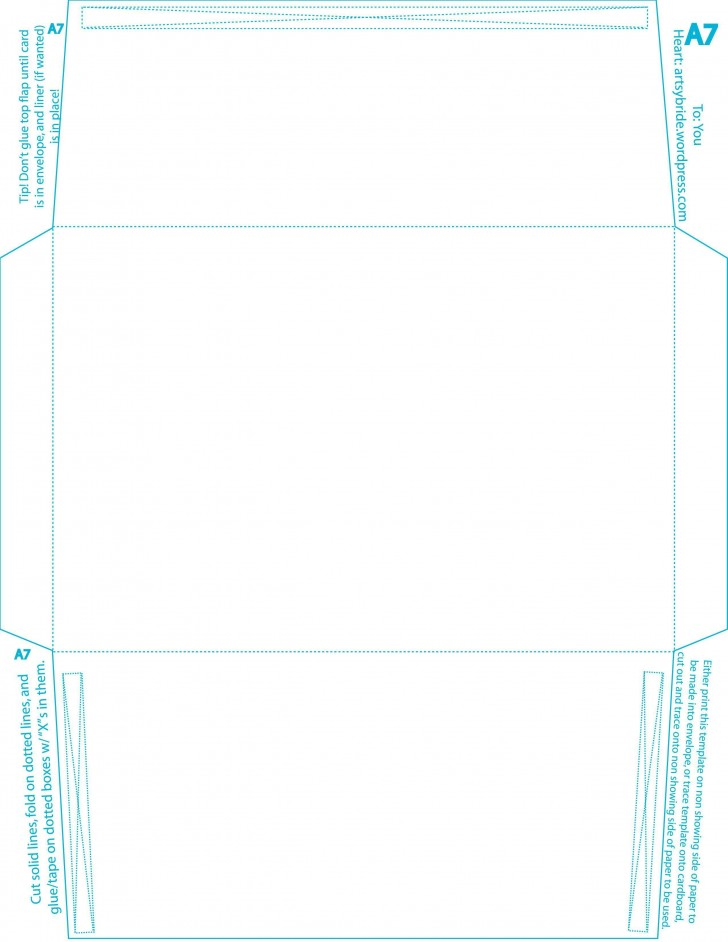 007 Top A7 Envelope Liner Template Free High Resolution 728