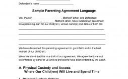 007 Top Child Custody Agreement Template High Definition  Canada Nc Ontario