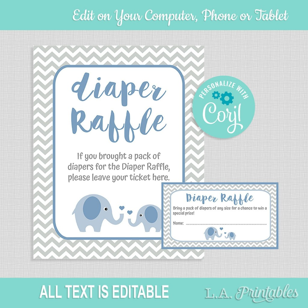 007 Top Diaper Raffle Ticket Template Sample  Free Printable DownloadLarge