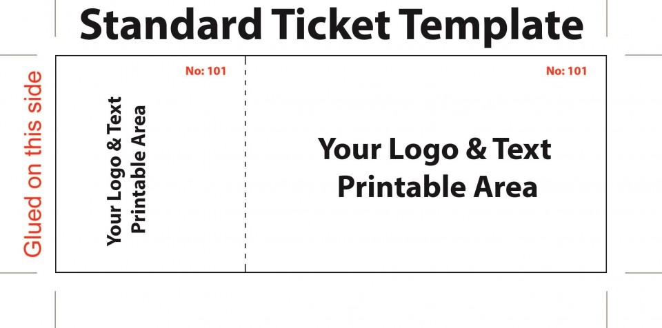007 Top Editable Ticket Template Free Sample  Concert Word Irctc Format Download Movie960