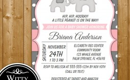 007 Top Elephant Baby Shower Invitation Girl Pink High Def