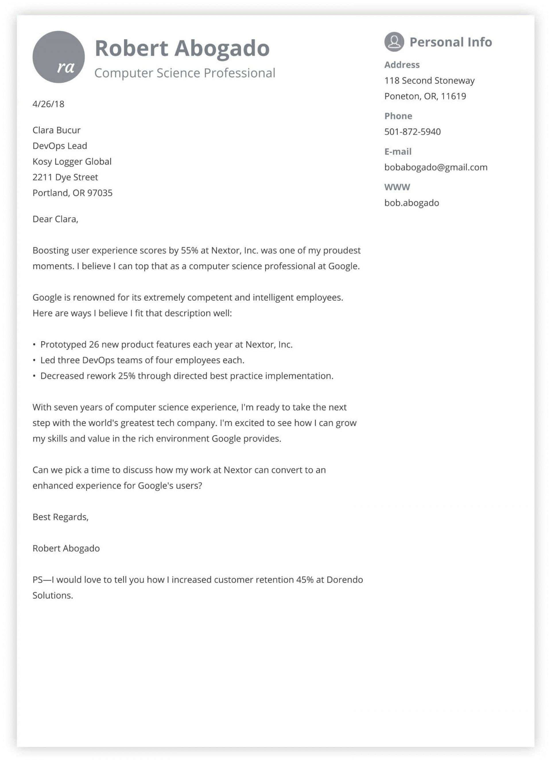 007 Top Excellent Covering Letter Example Highest Quality  Examples1920