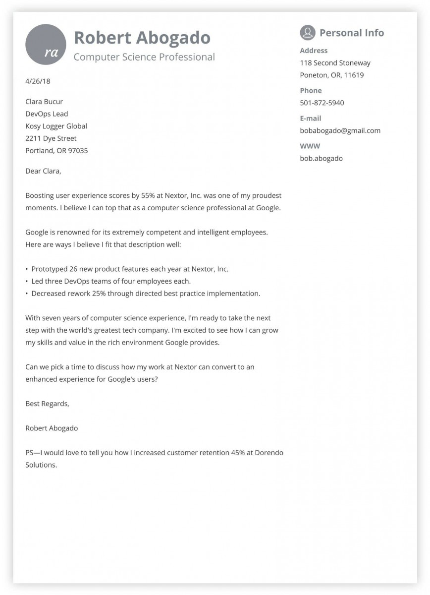 007 Top Excellent Covering Letter Example Highest Quality  Examples