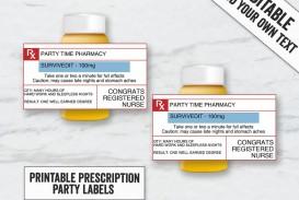 007 Top Free Fake Prescription Label Template Highest Clarity