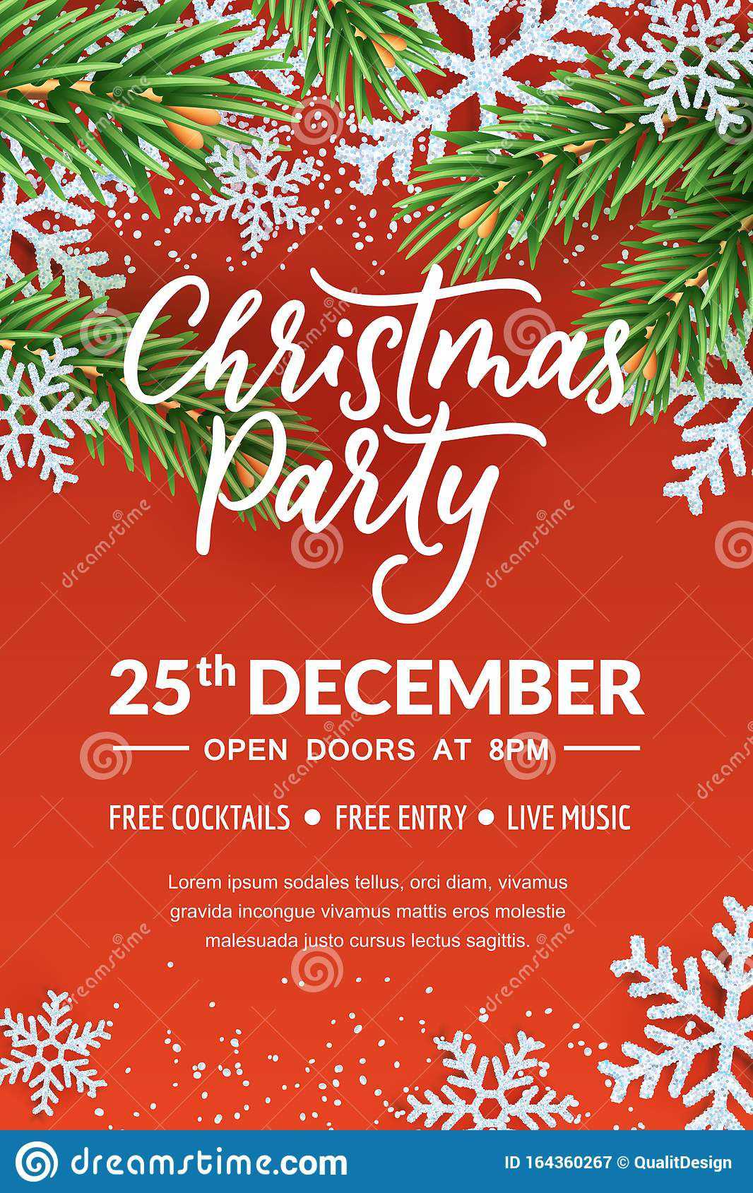 007 Top Free Holiday Flyer Template Photo  Templates For Word Printable ChristmaFull