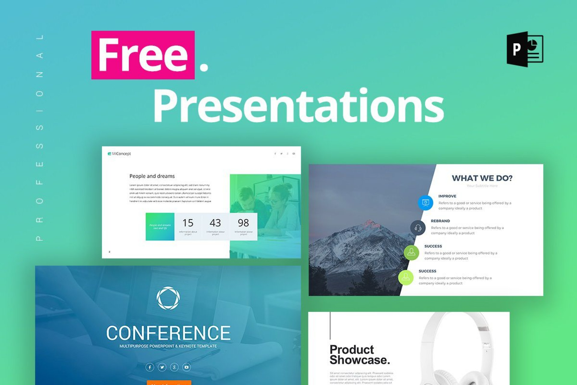 007 Top Free Powerpoint Presentation Template Concept  Templates 22 Slide For The Perfect Busines Strategy Download Engineering1920