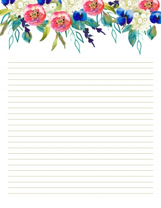 007 Top Free Printable Stationery Paper Template Design 320