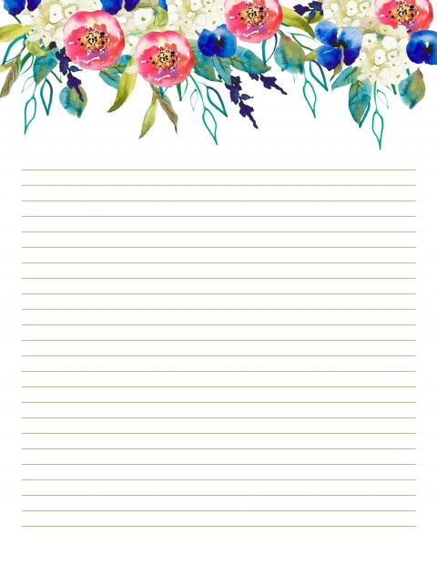 007 Top Free Printable Stationery Paper Template Design 480