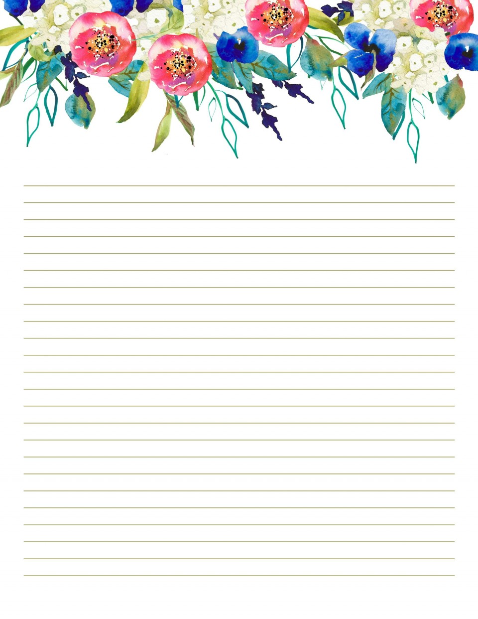 007 Top Free Printable Stationery Paper Template Design 960